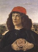 Sandro Botticelli Portrait of a Youth with a Medal oil painting picture wholesale