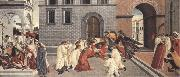 Sandro Botticelli Three Miracles of St Zanobius:driving the demon out of two youths,reviving a dead child,restoring sight to a blind man oil painting picture wholesale