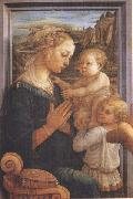 Sandro Botticelli Filippo Lippi,Madonna with Child and Angels or Uffizi Madonna oil painting picture wholesale