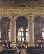 Sir William Orpen The Signing of Peace in the Hall of Mirrors,Versailles oil painting picture wholesale