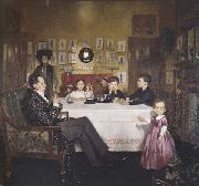 Sir William Orpen A Bloomsbury Family oil painting artist