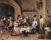 TENIERS, David the Younger Twelfth-night (The King Drinks) ar oil painting picture wholesale