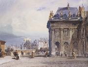Thomas Shotter Boys L lle de la Cite seen from the Institut,Paris (mk47) oil painting artist