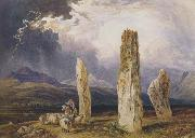 William Andrews Nesfield Druidical Temple at Tormore,isle of Arran (mk47) oil painting artist