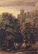 William Turner of Oxford A Scene in the vicinity of a Baronial Residence in the reign of Stephen (mk47) oil painting artist