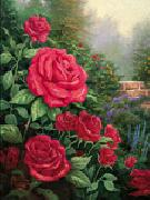 unknow artist Red Roses in Garden oil painting picture wholesale