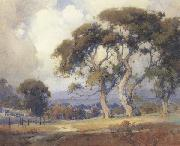 unknow artist Oaks in a California Landscape oil painting reproduction