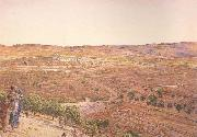 william holman hunt,o.m.,r.w.s The Plain of Rephaim from Mount Zion (mk46) oil painting artist