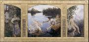 Akseli Gallen-Kallela The Aino triptych oil painting picture wholesale