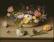 Ambrosius Bosschaert Still Life of Flowers oil painting