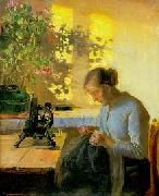Anna Ancher Syende fiskerpige oil painting