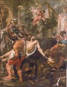 Brun, Charles Le The Martyrdom of st john the evangelist at the porta Latina oil painting artist