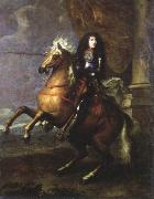 Charles Lebrun equestrian portrait of louis xlv oil painting artist