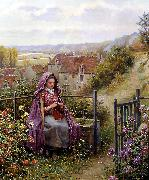 Daniel Ridgeway Knight In the Garden oil