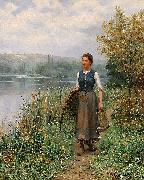 Daniel Ridgeway Knight The fishman wife oil painting picture wholesale