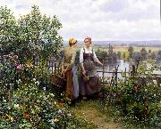 Daniel Ridgeway Knight Maria and Madeleine on the Terrace oil painting picture wholesale