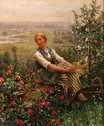 Daniel Ridgeway Knight Dolce Far Niente oil painting picture wholesale