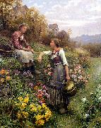 Daniel Ridgeway Knight Gossips oil painting picture wholesale