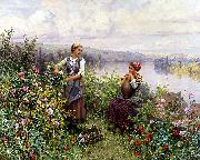 Daniel Ridgeway Knight On the Terrace at Rolleboise oil painting picture wholesale