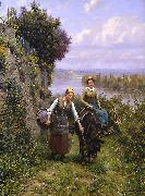 Daniel Ridgeway Knight Returning Home oil