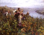 Daniel Ridgeway Knight En Vendanges oil painting picture wholesale