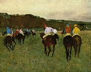 Edgar Degas Horseracing in Longchamps oil painting picture wholesale