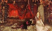 Edwin Austin Abbey The play scene in Hamlet oil