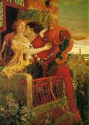 Ford Madox Brown Romeo and Juliet in the famous balcony scene oil painting picture wholesale