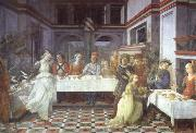 Fra Filippo Lippi Scenes from the life of St.John the Baptist:Herod's Feast oil painting picture wholesale