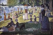 Georges Seurat Island Bowl Sunday oil painting picture wholesale