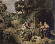 Giorgione adoration of the shepherds oil painting picture wholesale