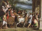 Giulio Romano triumph of titus and vespasia oil painting picture wholesale