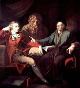Henry Fuseli The artist in conversation with Johann Jakob Bodmer oil painting picture wholesale