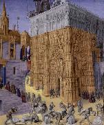 Jean Fouquet Construction of the Temple of Jerusalem oil painting picture wholesale