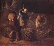 Jean Francois Millet Pack the hay oil painting reproduction