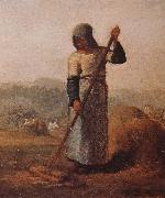 Jean Francois Millet The woman Harrow hay oil painting picture wholesale