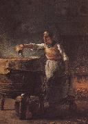 Jean Francois Millet Peasant confect the buck oil painting picture wholesale