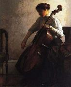 Joseph Decamp The Cellist oil painting artist