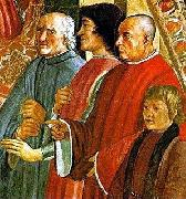 LEONARDO da Vinci Lorenzo de Medici between Antonio Pucci and Francesco Sassetti, with Giulio de Medici, fresco by Ghirlandaio oil painting picture wholesale