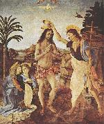 LEONARDO da Vinci The Baptism of Christ oil painting picture wholesale
