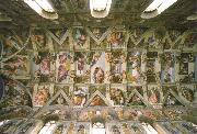 Michelangelo Buonarroti the sistine chapel ceiling oil painting picture wholesale
