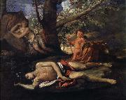 Nicolas Poussin echo och narcissus oil painting picture wholesale