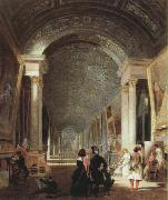 Patrick Henry Bruce view of the grande galerie of the louvre oil painting artist