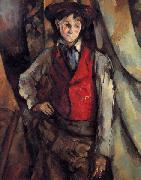 Paul Cezanne Boy in a Red Vest oil painting picture wholesale