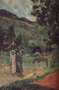 Paul Gauguin Ma and scenery oil painting reproduction