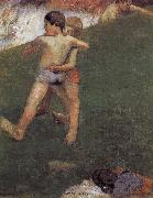Paul Gauguin Wrestling kids oil painting picture wholesale