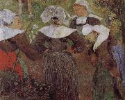 Paul Gauguin Four women dancing Brittany oil painting picture wholesale