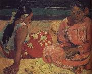 Paul Gauguin The two women on the beach oil painting picture wholesale