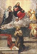 Pietro Faccini Christ and the Virgin Mary appear before St. Francis of Assisi oil painting picture wholesale