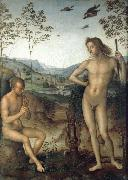 Pietro vannucci called IL perugino Apollo and Marilyn income Ah oil painting artist